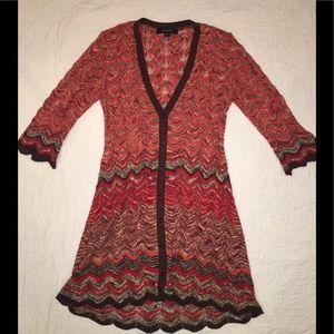 Nine West long sweater w/ 3/4 sleeves. Size M